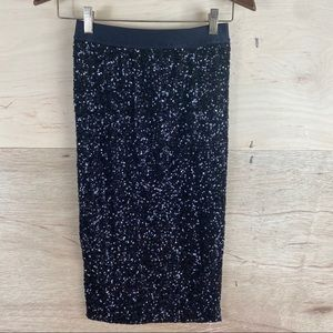 Hot & Delicious Black Sequined Skirt
